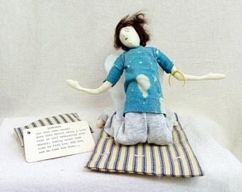 Original art doll, soft sculpture, Drug addict, Lost Soul