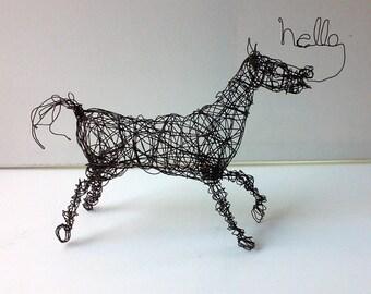 HELLO HORSE - Unique Wire Horse Sculpture
