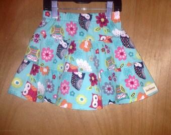 Owl Skirt, size 3t