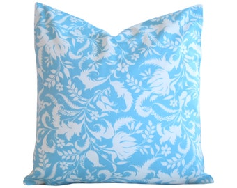 "Pillows, Decorative Pillows,Blue Decorative pillows,20"" x 20"" inch Pillows, Blue Floral pillow, floral throw pillow covers, cushion covers"