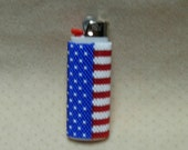 Peyote Stitched Classic Bic Lighter Cover // Removable Beaded Lighter Cover