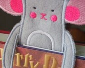 Bookmark - Animal - Mouse  - Felt Book Mark - Kids and Book Lovers - Personalization - Personalized