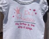 I'm a Princess: Christian toddler girl shirt, size 18 months.