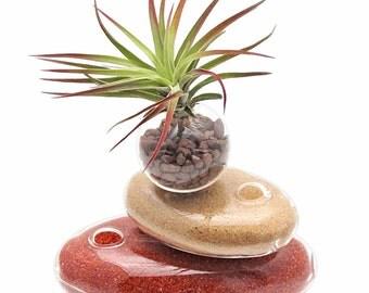 zen cairn glass terrarium
