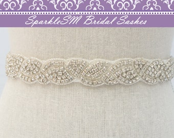 Crystal Bridal Belt, Rhinestone Sash, Wedding Bridal Sash, Bridal Belt, Bridesmaids Sash, Prom Sash, Jeweled Bridal Belt, Beaded Bridal Sash