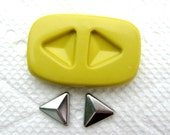 Small Triangle Pyramid mold for Stud Earrings Flexible silicone mold for jewelry making, resin, FIMO, clay,