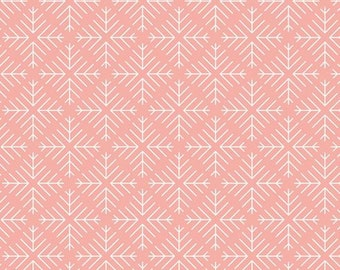 Curiosities Collection - Caught Snowflakes Blush from Art Gallery - Choose Your Cut