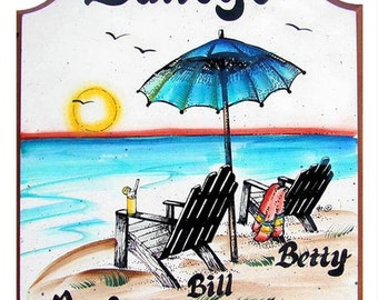 Personalized beach signs