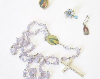 Vintage Spiritual Icons Instant Collection Religious Rosary brooch Pins First Communion Gift for Her Him Mary Madonna Pins