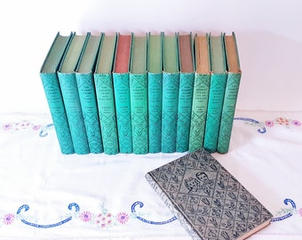 Antique Bobbsey Twins Book Set 1940 Green Children's Book Collection 13 Hard Covered Book Set13 Hardcovered Bobbsey Twin  Book Collection