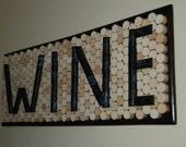 WINE Wine Cork Board Wall Decor