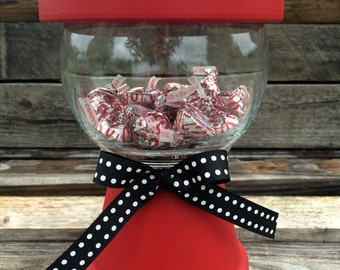 Faux Gumball Machine; Candy Dish; Teacher Gift; End of the Year gift; Thank you gift; Birthday Party Decor; Birthday Centerpiece