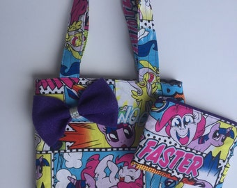 My Little Pony mini me tote bag with mayching coin purse