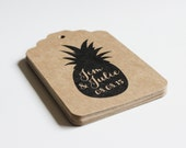 Custom Tags for Weddings Showers Gifts Escort Cards Merchandise Prices and More  -   100 tags - Pineapple or Design of Your Choice