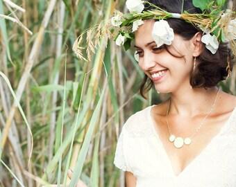 Wedding Jewelry - Jewelry - White Necklace - Bridal Jewelry - Unique Jewelry - Art Jewelry - Blue Necklace (15-2N)
