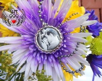 "50 SHADES OF GREY bottle cap 18"" ball chain necklace featuring Anastasia Steele and Christian Grey (Dakota Johnson & Jamie Dornan)"