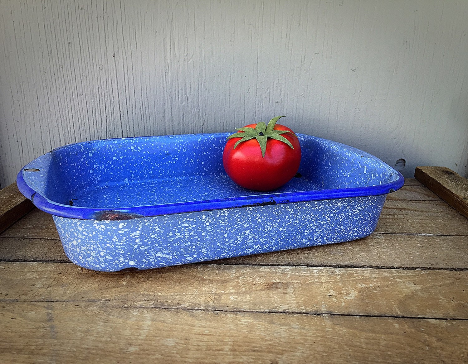 Enamelware Baking Pan Light Blue And By Godsavestrawberryjam
