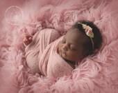 Stretch wrap - 'BLUSH' newborn stretch wrap  / scarf - prop blanket - knitbysarah - Stitches by Sarah