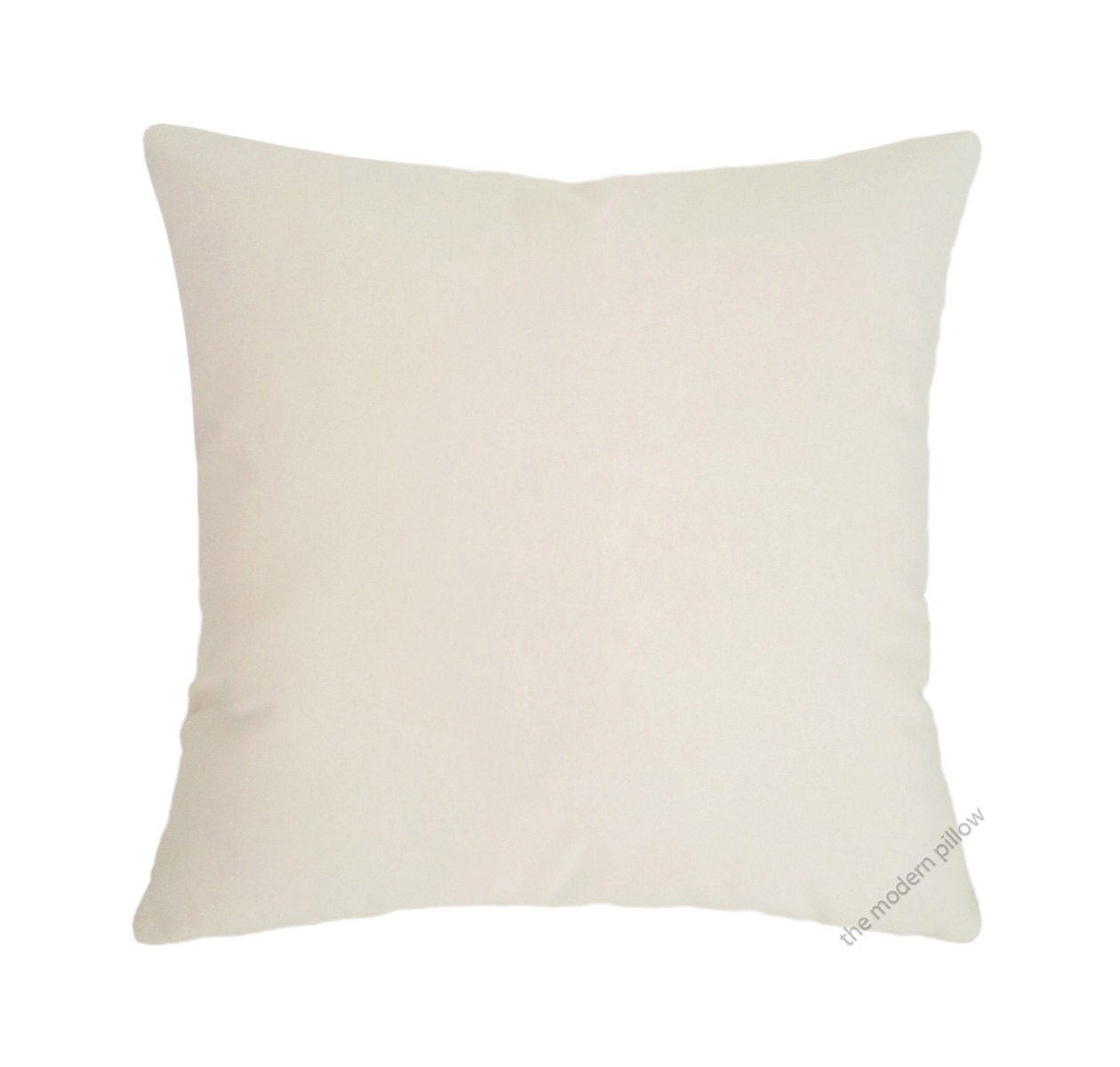 Natural Decorative Pillow : Natural Ivory Beige Solid Cotton Decorative Throw Pillow Cover
