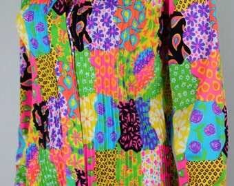 Vintage 1960's The LILLY PULITZER NeOn Patchwork Psychedelic BeLL BoTToM MoD HiPPiE PANTSUIT SIze 12 M L