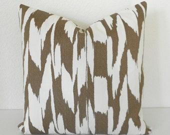 Bronze metallic modern abstract decorative throw pillow