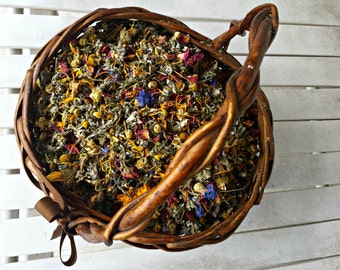 1LB BULK Chicken Nesting Box Aromatherapy Herbal Blend Bye Bye Bugs 100% Organic Dried Herbs for Hens Repel Insects Mint Lavender Rose