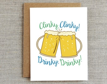 Cheers Card, Congratulations Card, Funny Congrats Card, Just Because Card, Beer Card, New Years Card, St. Patrick's Day Card, 21st Birthday