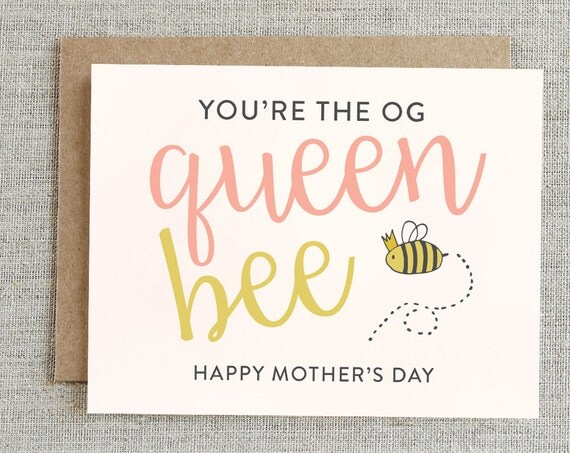 Funny Mother's Day Card, Happy Mother's Day Card, Funny Mom Card, Card For Mom, Sweet Mother's Day Card, Queen Mother's Day Card, Mom Card