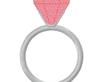 Small Diamond Ring Machine Embroidery Design - Instant Download