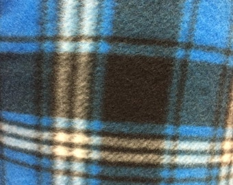 Plaid Print Fleece Fabric by the Yard