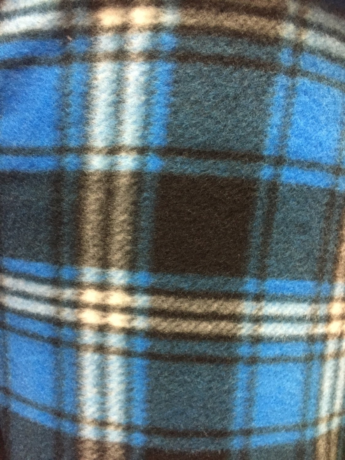plaid print fleece fabric by the yard from sofiretail on etsy studio. Black Bedroom Furniture Sets. Home Design Ideas