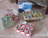 PDF Christmas Box Set A for Dollhouse Miniature 1/12 Scale DIGITAL DOWNLOAD