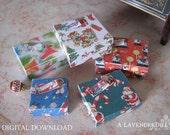 PDF Christmas Box Set C for Dollhouse Miniature 1/12 Scale DIGITAL DOWNLOAD