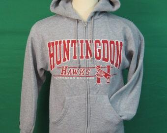 Huntingdon College Hawks Zip Hoodie - Adult Small - #635