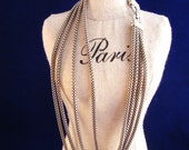 Vintage 4 Strand Chain necklace