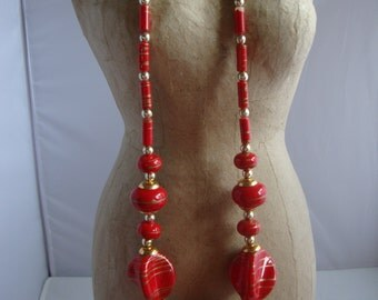Bold Red Chunky Necklace