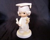 "Precious Moments Graduate Figurine ""May the Lord Bless You and Keep You""  1980 # E-4721"