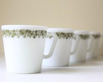 Pyrex Crazy Daisy Mugs, Spring Blossom Pattern, Set of 4