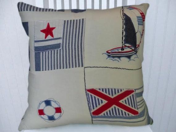 Ralph Lauren Decorative Throw Pillow 18x18 Coastal Pillow