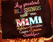 MiMi's blessing embroidery shirt