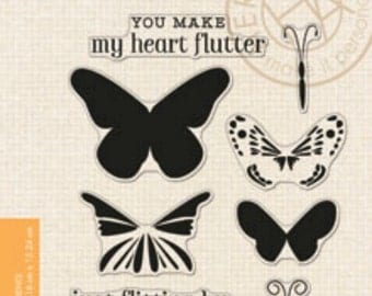 SALE Hero Arts Stamps: Color Layering Butterflies CL867 Clear Stamps, Butterfly Stamps, Layering Stamps, Paper Crafting, Hand Made Cards