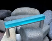 "3-3/4""tumbled glass cabinet pull"