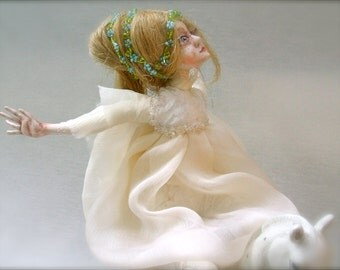 Art doll  Flight OOAK  Paper clay doll   Handmade doll   Home decor  Collecting doll