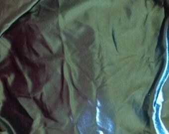 Teal Stretch Satin Spandex Fabric