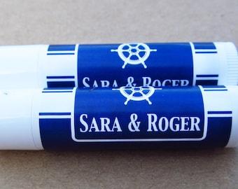 Lip Balm Labels - Wedding Stickers  Chap-stick Wedding Favor Labels