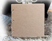 Chipboard Mini Album 6 x 6 Scrapbook Album Custom Made To Go With 6 x 6 Paper Pads With Large 1 1/2 Inch D-Rings ~Page Add On Option