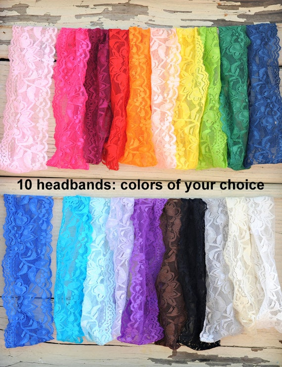 Lace Headband Wholesale Stretch Elastic Baby Headbands