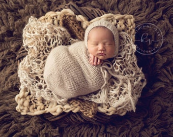 Newborn Swaddle Sack, Photo Prop, Choose Your Color