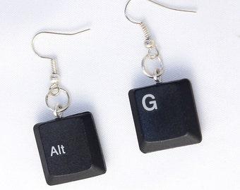 Keyboard Earrings Choose your characters
