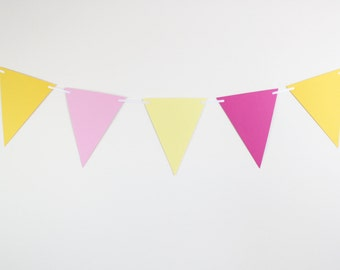 Birthday Decorations- Banner, baby showers, pink lemonade, pennant banner, birthday decorations, party supplies